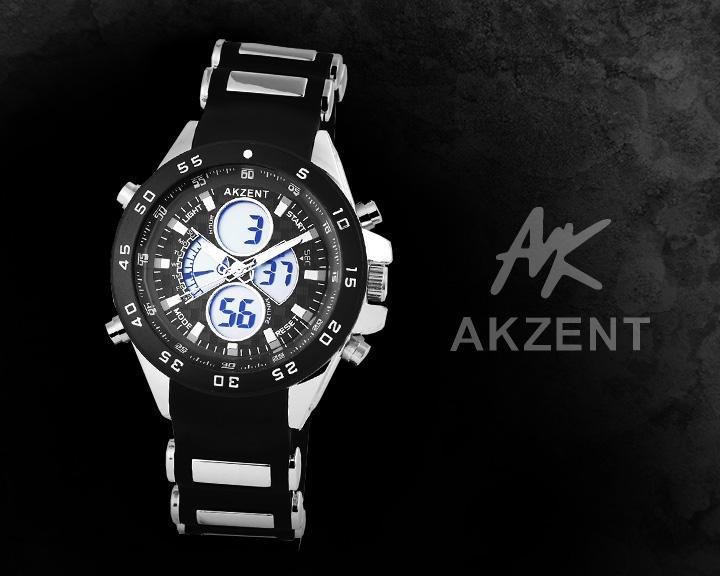 Digitální pánské hodinky AKZENT AI019 digitální hodinky