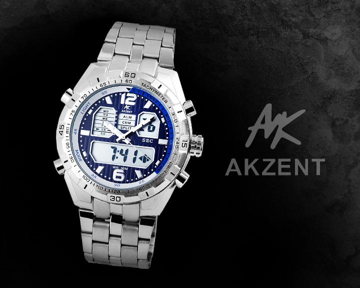 Digitální pánské hodinky AKZENT AI021 digitální hodinky