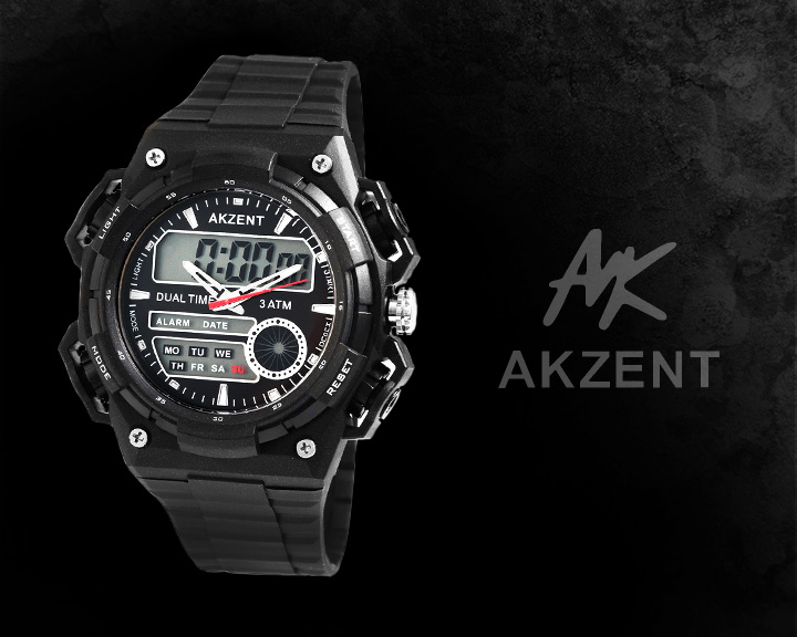 Digitální pánské hodinky AKZENT AI027 digitální hodinky